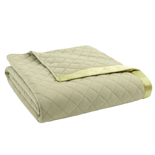 Shavel Home Products Meadow Twin Micro Flannel Quilted Blanket
