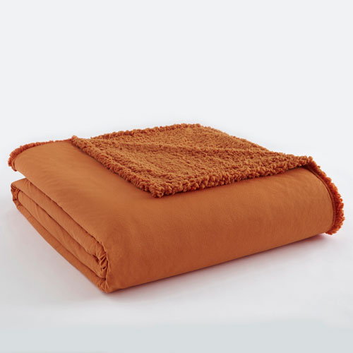 Shavel Home Products Spice Twin Micro Flannel Sherpa Blanket