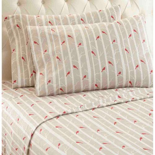 Cardinals Micro Flannel Sheet Set