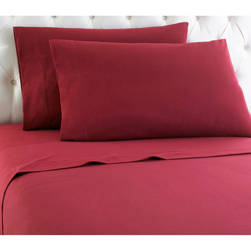 Shavel Home Products Wine Full Micro Flannel Sheet, Set of 4