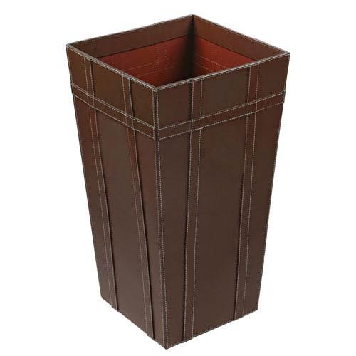 Kindwer Brown Leather Basket