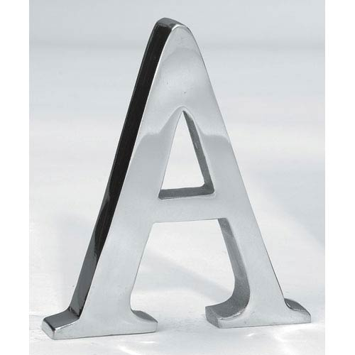 Kindwer Silver Aluminum Letter A