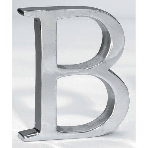 St. Croix Trading Kindwer Silver Aluminum Letter B
