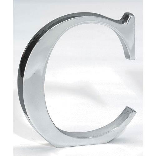 Kindwer Silver Aluminum Letter C