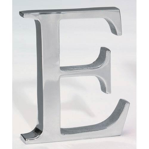 Kindwer Silver Aluminum Letter E