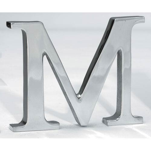 Kindwer Silver Aluminum Letter M