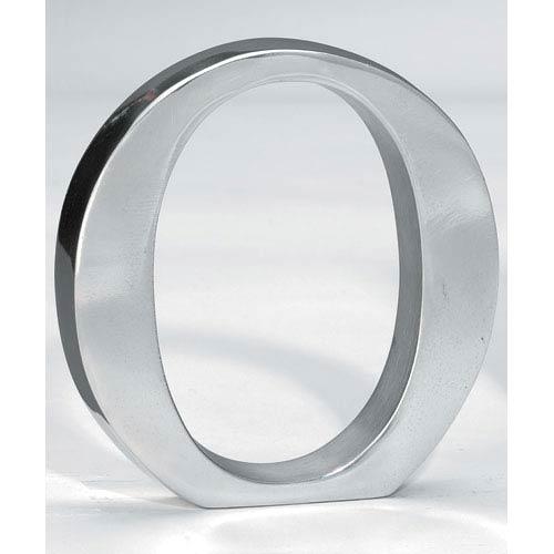 Kindwer Silver Aluminum Letter O