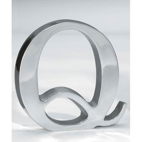 St. Croix Trading Kindwer Silver Aluminum Letter Q