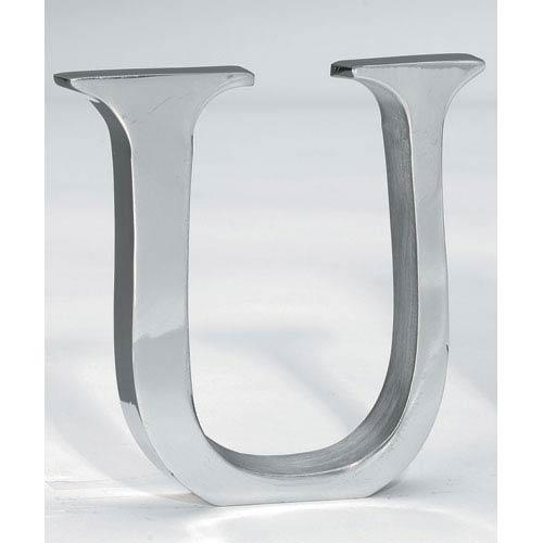 St. Croix Trading Kindwer Silver Aluminum Letter U