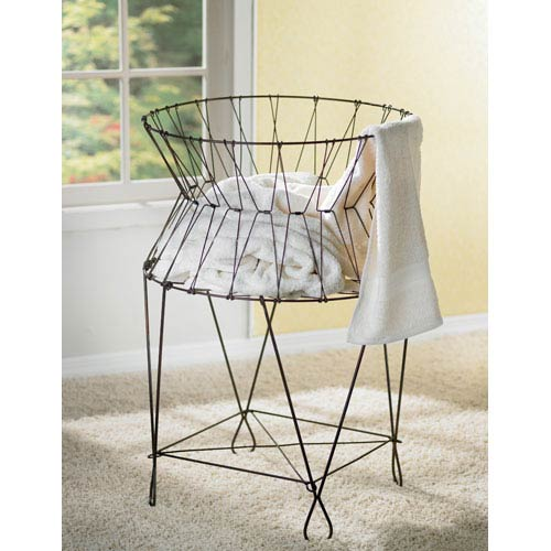 St. Croix Trading Kindwer Wire Laundry Basket Hamper