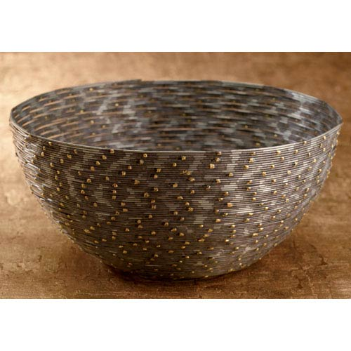St. Croix Trading Kindwer Gray Iron Coiled Wire Basket
