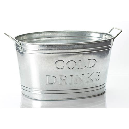 St. Croix Trading Kindwer Silver Cool Drinks Oval Tub