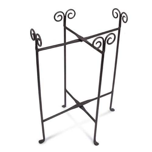 St. Croix Trading Kindwer Black Iron Oval Tub Floor Stand