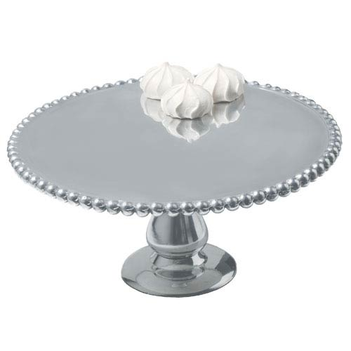 Kindwer Silver Beaded Aluminum Cake Pillar