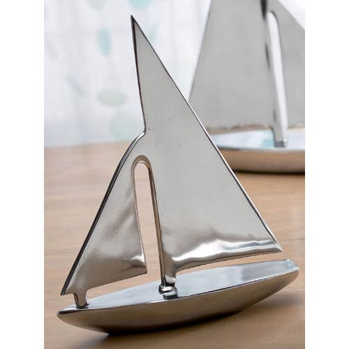 Kindwer Silver Aluminum Sail Boat