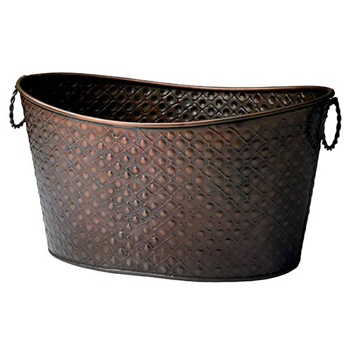 St. Croix Trading Kindwer Copper Relief Oval Beverage Tub