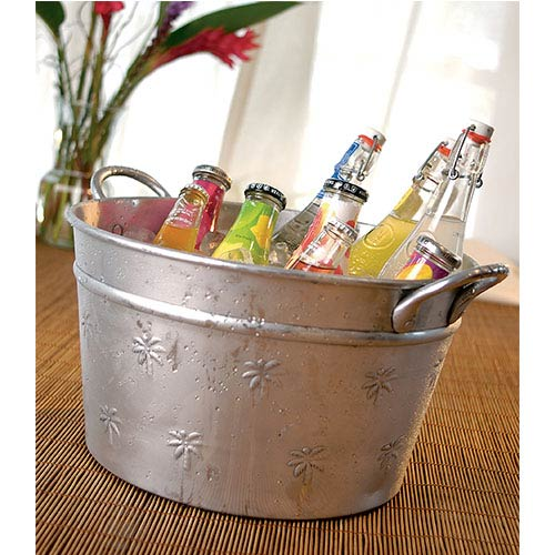 Kindwer Silver Palm Tree Relief Tub