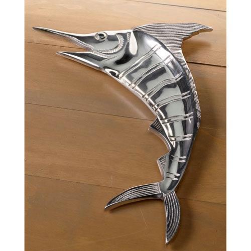 Kindwer Silver Casted Aluminum Marlin Platter