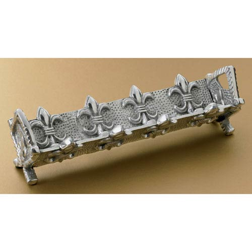 Kindwer Silver Fleur de Lis Cracker Stand