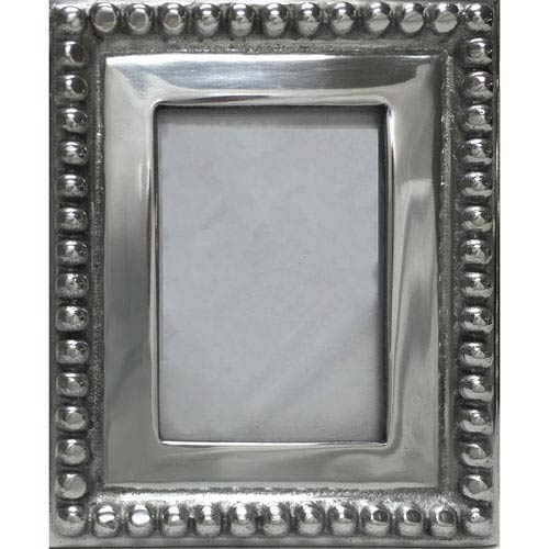 Kindwer Silver Imperial Beaded 4 x 6-Inch Photo Frame