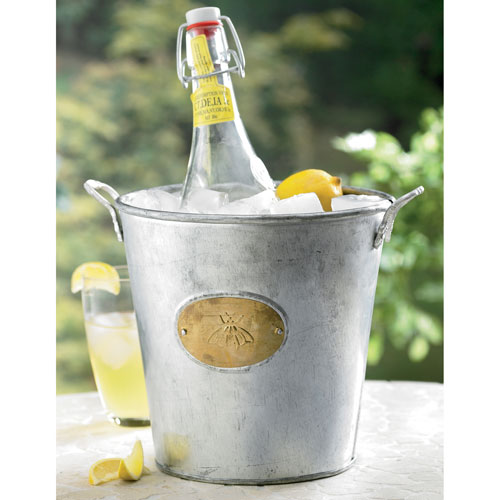 Kindwer Silver Galvanized Bumble Bee Bucket