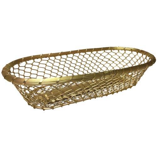 Kindwer Gold Gilded Chain-Link Metal Bread Basket