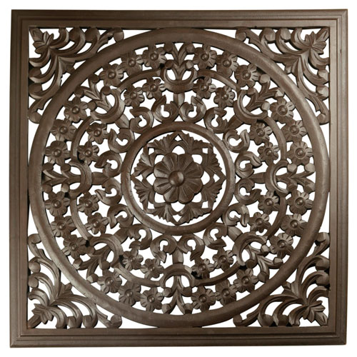 Solaris Brown 12-Inch Seven Wooden Wall Panel