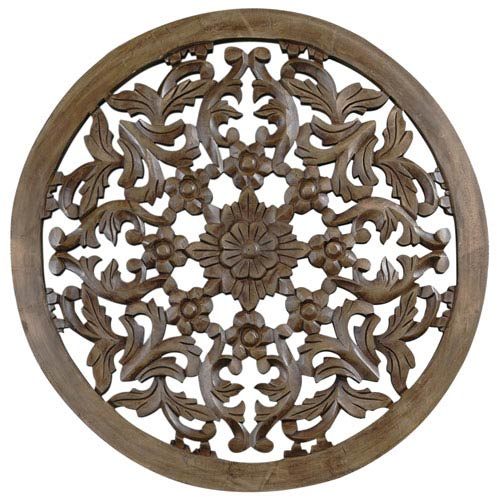 St. Croix Trading 30-Inch Light Brown Solaris Four Wooden Wall Panel