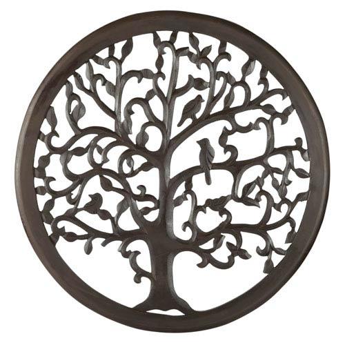 30 In. Dark Brown Solaris Ten Tree of Life Wall Art
