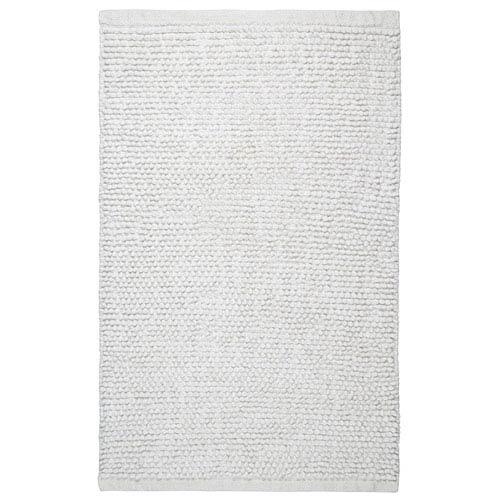 Plush Nubby White 21-Inch x 34-Inch Bath Rug