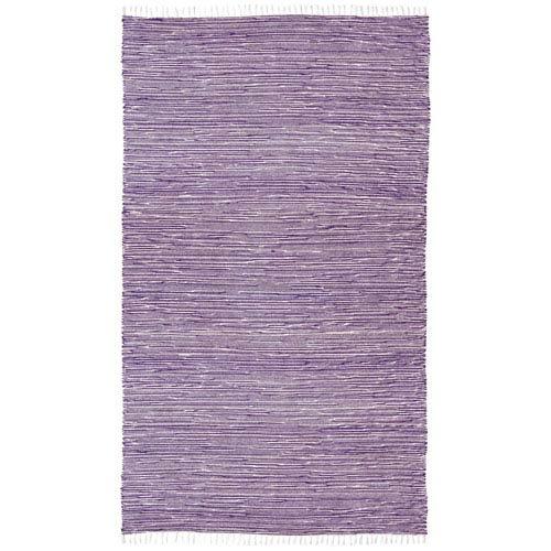 Complex Purple Rectangular: 3 Ft x 5 Ft Rug