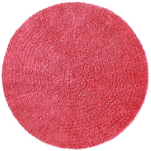 St. Croix Trading Shagadelic Chenille Shag Pink Round: 3 Ft. x 3 Ft. Rug