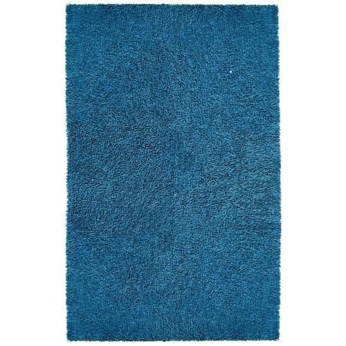 Blue Shagadelic Chenille Twist 21-Inch x 34-Inch Rug
