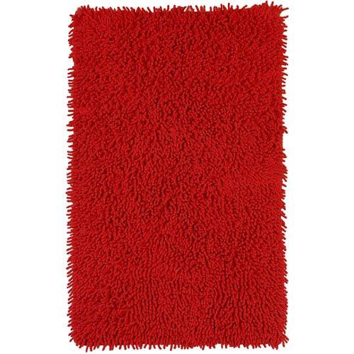 Red Shagadelic Chenille Twist 21-Inch x 34-Inch Rug