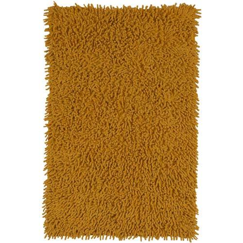 Gold Shagadelic Chenille Twist 21-Inch x 34-Inch Rug