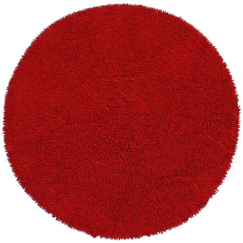 St. Croix Trading Shagadelic Red Chenille Twist Round: 5 Ft. Rug