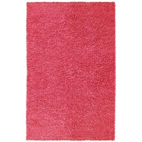 Pink Soft Chenille Shag Rectangular: 4 Ft. x 6 Ft. Rug