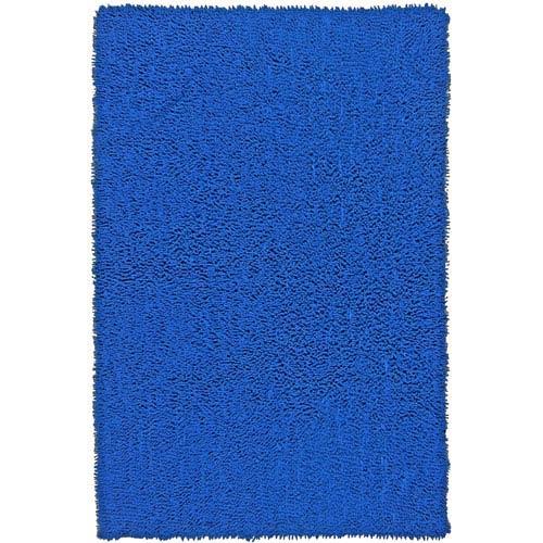 Shagadelic Neon Blue Chenille Twist Rectangular: 4 Ft. x 6 Ft. Rug