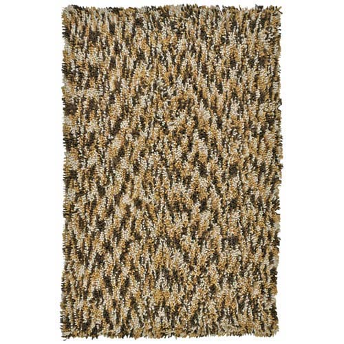 St. Croix Trading Shagadelic Brown Chenille Swirl Twist Rectangular: 4 Ft. x 6 Ft. Rug