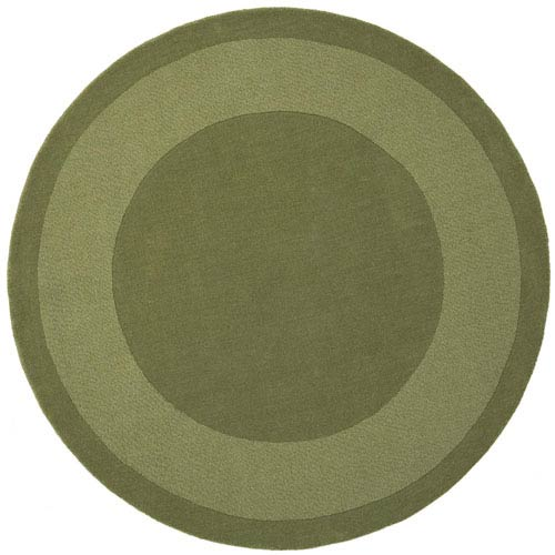 St. Croix Trading Transitions Moss Green Border Round: 6 Ft. x 6 Ft. Rug