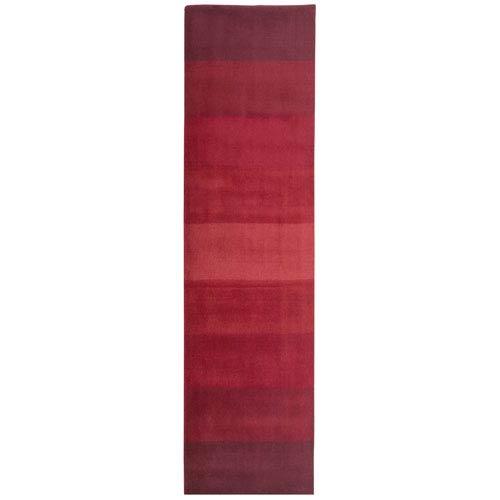 St. Croix Trading Aspect Red Stripes Rectangular: 2 Ft. 5 In. x 8 Ft. Runner