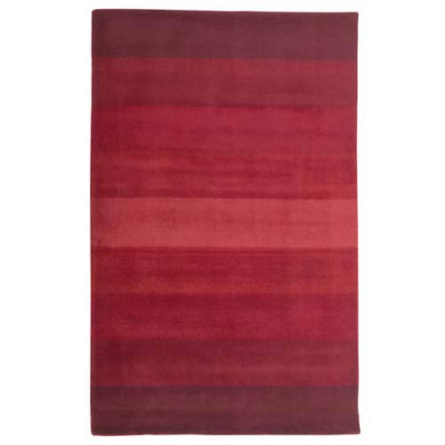 Red Stripes Red Rectangular: 5 Ft. x 8 Ft.  Rug