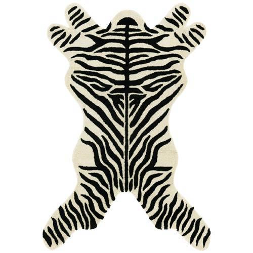 Zebra Design Black: 5 Ft. x 8 Ft.  Rug
