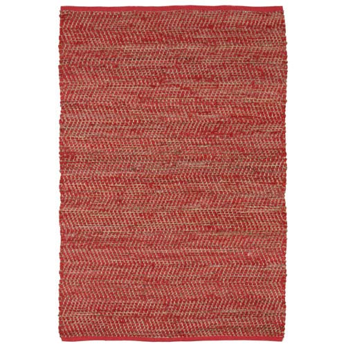 St. Croix Trading Red Jeans and Hemp Rectangular: 5 Ft. x 8 Ft. Rug