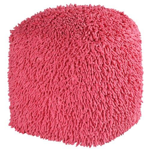 Pink 19-Inch Shagadelic Pouf