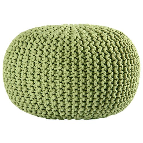 Awe Inspiring Green Cotton Rope Pouf Ottoman Cjindustries Chair Design For Home Cjindustriesco