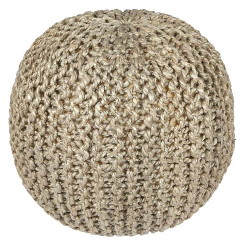 Jute and Hemp 13 In. Rope Pouf