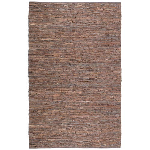 St. Croix Trading Matador Brown Leather Rectangular: 10 Ft. x 14 Ft. Rug