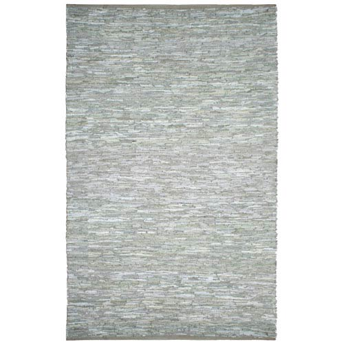 St. Croix Trading Matador White Leather Rectangular: 10 Ft. x 14 Ft. Rug