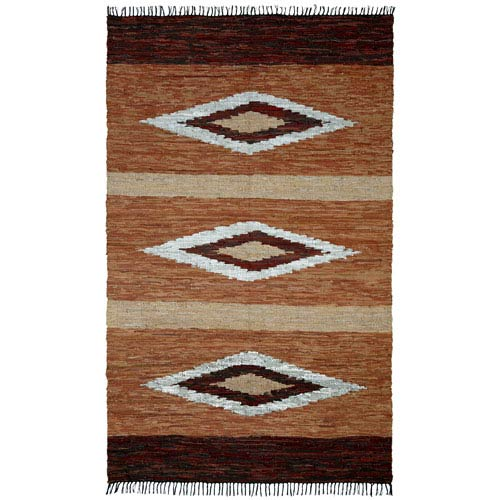 Matador Brown Diamonds Rectangular: 1 Ft 9 In x 2 Ft 10 In Rug